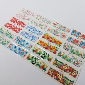 NEW Set of 12 Floral Designs Water Decals